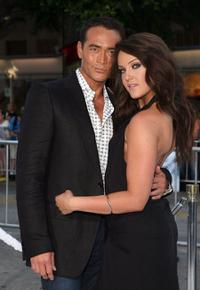 Mark Dacascos and Lacey Schwimmer at the premiere of