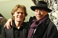 Willem Dafoe and Berlinale chief Dieter Kosslick at the 57th Berlinale International Film Festival.