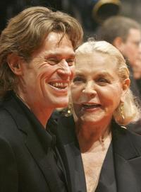 Willem Dafoe and Lauren Bacall at the 57th Berlinale International Film Festival.