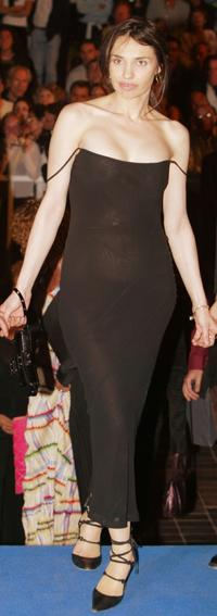 Beatrice Dalle at the official screening of