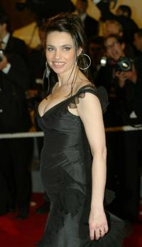 Beatrice Dalle at the premiere of