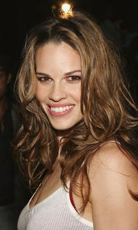Hilary Swank at the Calvin Klein Underwear Party in New York City
