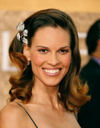 Hilary Swank at the 64th Annual Golden Globe Awards in Beverly Hills.