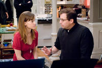 Hilary Swank and director Richard LaGravenese on the set of