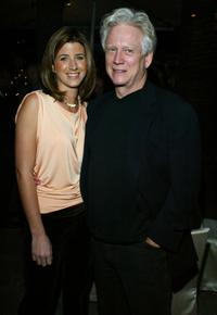 Bruce Davison and Flavia Colgan at the State of the Union Viewing party.