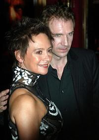 Francesca Annis and Ralph Fiennes at the Ziegfeld Theatre for the Premiere of
