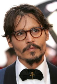 Johnny Depp at the 77th Annual Academy Awards in Hollywood.