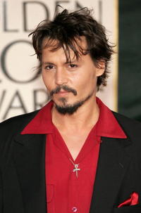 Johnny Depp at the 63rd Annual Golden Globe Awards in Beverly Hills.