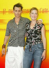 Johnny Depp and Kate Winslet at the photocall of