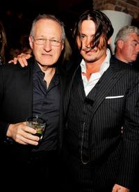 Director Michael Mann and Johnny Depp at the after party of the Illinois premiere of