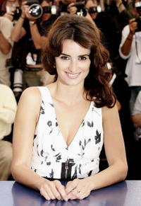 """Penelope Cruz at a photocall promoting the film """"Volver"""" in Cannes, France."""