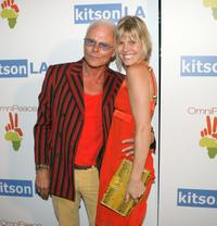 Michael Des Barres and Kristen Kline at the OmniPeace Event.