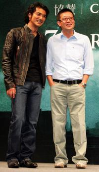 Takeshi Kaneshiro and director Andrew Lau at the press conference for