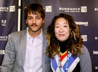Diego Luna and Sandra Oh at the Jurors Press Conference.