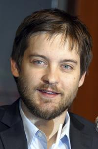 Tobey Maguire at the Tokyo press conference for
