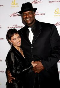 Shaquille O'Neal and wife at the