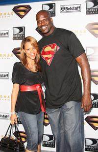 Shaunie Nelson and Shaquille O'Neal at the 2004 MTV Video Music Awards.