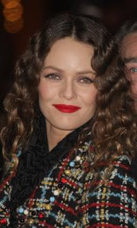 Vanessa Paradis at the official Christmas lighting ceremony.