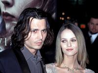 Johnny Depp and Vanessa Paradis at the Los Angeles premiere of
