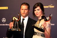 Til Schweiger and Nora Tschirner at the Bambi Awards 2008.