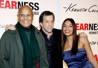 Harry Belafonte, Kenneth Cole and Rosario Dawson at the launch of