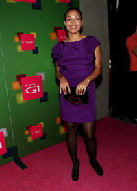 Rosario Dawson at the Launch Party for the new T-Mobile G1 telephone.