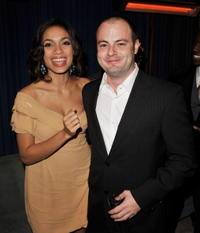Rosario Dawson and Angelo Milli at the after party of the premiere of