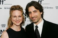 Laura Linney and Noah Baumbach at the premiere of