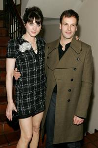 Michele Hicks and Jonny Lee Miller at the intimate dinner hosted by Chanel and Sienna Miller in honor of Les Exclusifs de Chanel.