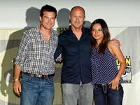 Jason Bateman, Mike Judge and Mila Kunis at the Comic-Con 2009.