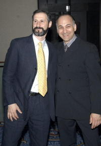 Richard Topol and Ned Eisenberg at the opening of the Lincoln Center Theater presents
