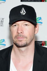 Donnie Wahlberg at the Ante Up for Africa celebrity poker tournament during the World Series of Poker.