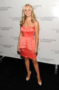 Beverley Mitchell at the BCBGMAXAZRIA Spring 2012 fashion show during the Mercedes-Benz Fashion Week in New York.