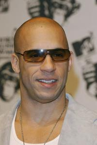 Vin Diesel at the MTV European Music Awards.
