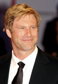 Aaron Eckhart at the Italy premiere of