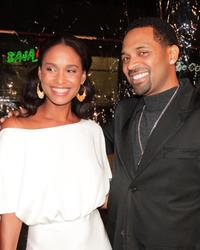 Joy Bryant and Mike Epps at the premiere of