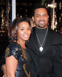 Mike Epps and his wife Michelle McCain at the premiere of