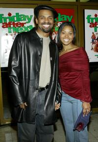 Mike Epps and Michele at the premiere of