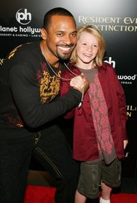 Mike Epps and Connor McCoy at the premiere of