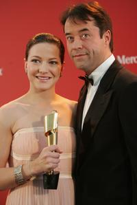 Hannah Herzsprung and Jan Josef Liefers at the German Film Awards.