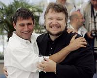 Sergi Lopez and Director Guillermo del Toro at the photocall of