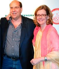 Gary Greengrass and Kristine Sutherland at the Barney Greengrass celebration of 100 years.