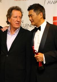 Chow Yun-Fat and Geofferey Rush at the California The 2007 AZN Asian Excellence Awards.