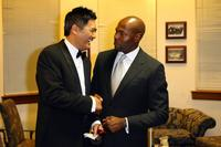 Chow Yun-Fat and Antoine Fuqua at the California The 2007 AZN Asian Excellence Awards.