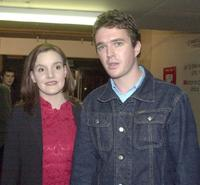 Kirsty Thompson and Matt Day at the premiere of