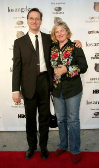Paul Feig and a guest at the Los Angeles Magazine's Comedy Issue Party.