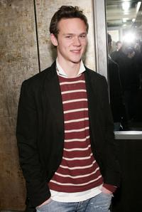 Joseph Cross at the Cinema Society and Zenith Watches screening of