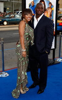 Meagan Good and Thomas Jones at the premiere of