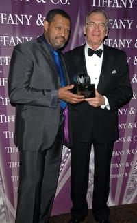 Laurence Fishburne and Syndey Pollack at the 18th Annual Palm Springs International Film Festival 2007 Gala Awards Presentation.