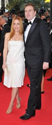 Gillian Anderson and Guest at the premiere of
